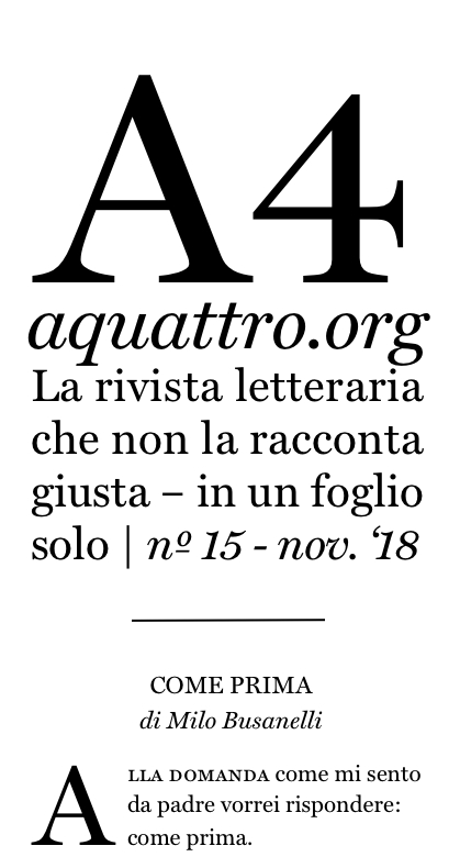 """""""A4"""" n. 15"""